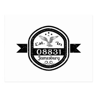 Established In 08831 Jamesburg Postcard