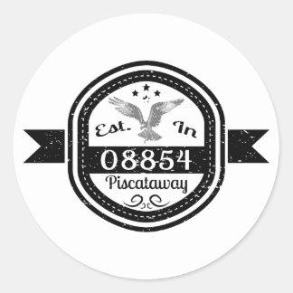 Established In 08854 Piscataway Classic Round Sticker