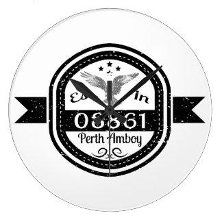 Established In 08861 Perth Amboy Large Clock