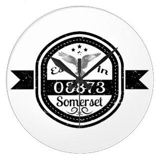 Established In 08873 Somerset Large Clock