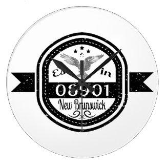 Established In 08901 New Brunswick Large Clock