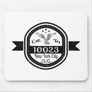 Established In 10023 New York City Mouse Pad