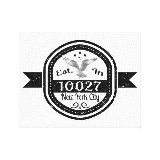 Established In 10027 New York City Canvas Print