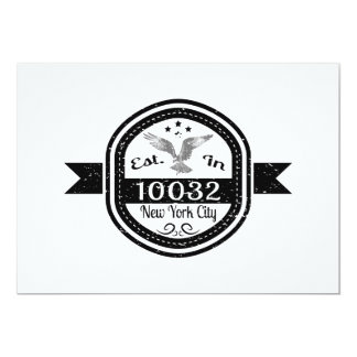 Established In 10032 New York City Card