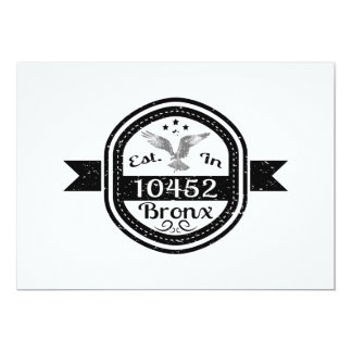 Established In 10452 Bronx Card