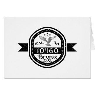 Established In 10460 Bronx Card
