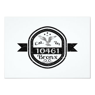 Established In 10461 Bronx Card