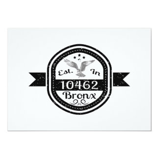 Established In 10462 Bronx Card