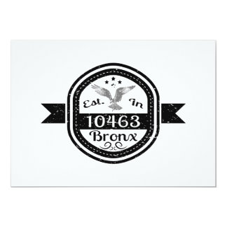 Established In 10463 Bronx Card