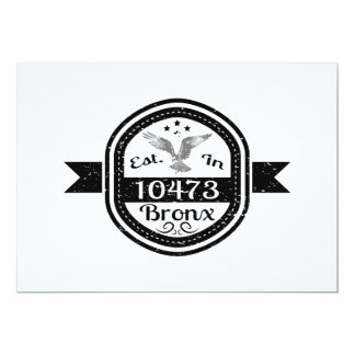 Established In 10473 Bronx Card