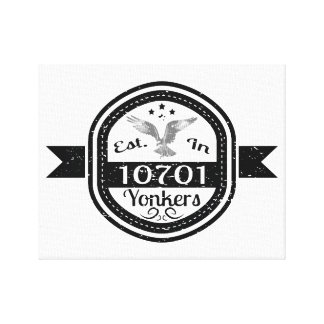 Established In 10701 Yonkers Canvas Print