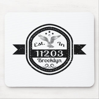Established In 11203 Brooklyn Mouse Pad