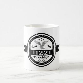 Established In 11221 Brooklyn Coffee Mug