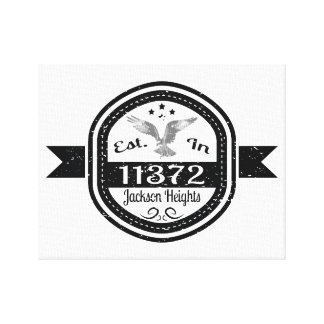 Established In 11372 Jackson Heights Canvas Print