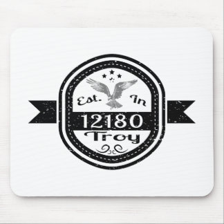 Established In 12180 Troy Mouse Pad