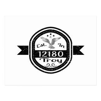 Established In 12180 Troy Postcard