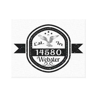 Established In 14580 Webster Canvas Print
