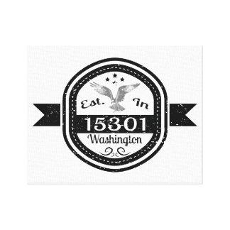 Established In 15301 Washington Canvas Print
