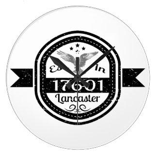 Established In 17601 Lancaster Large Clock