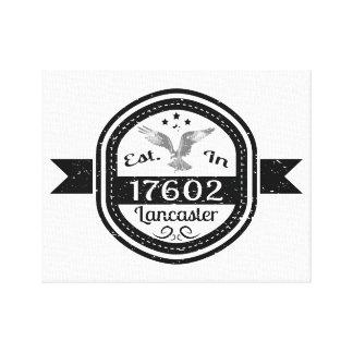 Established In 17602 Lancaster Canvas Print