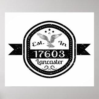 Established In 17603 Lancaster Poster