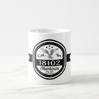 Established In 18102 Allentown Coffee Mug