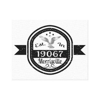 Established In 19067 Morrisville Canvas Print