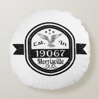 Established In 19067 Morrisville Round Pillow