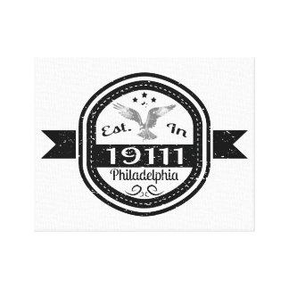 Established In 19111 Philadelphia Canvas Print