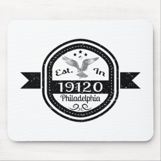 Established In 19120 Philadelphia Mouse Pad