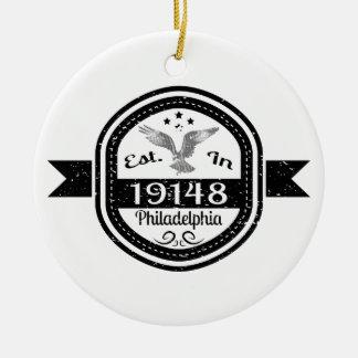 Established In 19148 Philadelphia Ceramic Ornament
