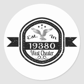 Established In 19380 West Chester Classic Round Sticker