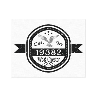 Established In 19382 West Chester Canvas Print