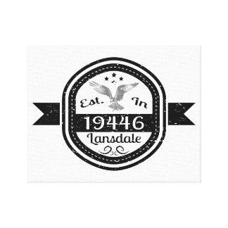 Established In 19446 Lansdale Canvas Print