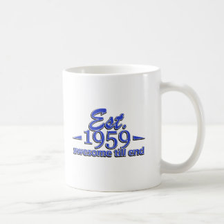 Established in 1959 coffee mug