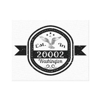 Established In 20002 Washington Canvas Print