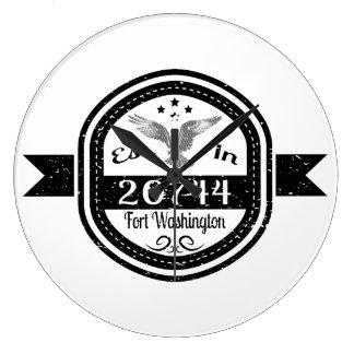 Established In 20744 Fort Washington Large Clock