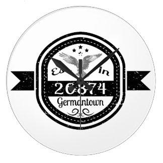 Established In 20874 Germantown Large Clock