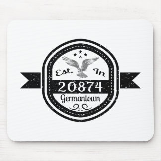 Established In 20874 Germantown Mouse Pad
