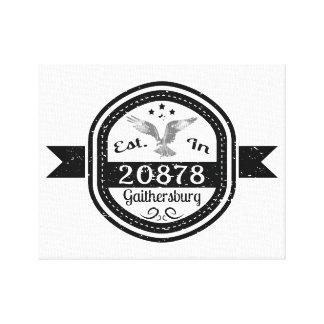 Established In 20878 Gaithersburg Canvas Print