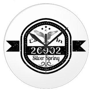 Established In 20902 Silver Spring Large Clock