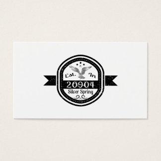 Established In 20904 Silver Spring Business Card