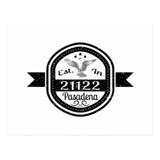 Established In 21122 Pasadena Postcard