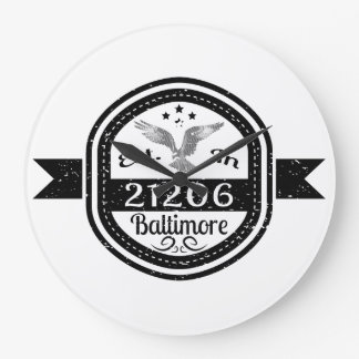 Established In 21206 Baltimore Large Clock