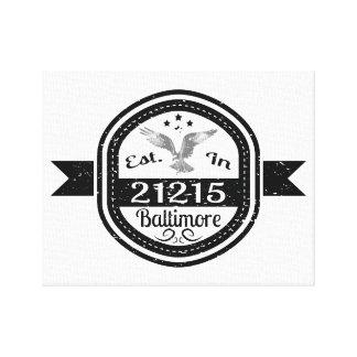 Established In 21215 Baltimore Canvas Print