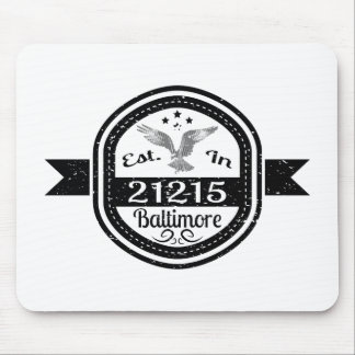 Established In 21215 Baltimore Mouse Pad