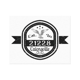 Established In 21228 Catonsville Canvas Print