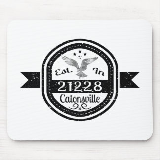 Established In 21228 Catonsville Mouse Pad