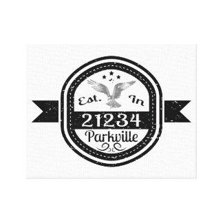 Established In 21234 Parkville Canvas Print