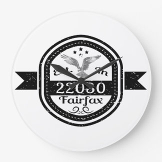Established In 22030 Fairfax Large Clock